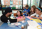 -Boston, MA, July 2,  2013-<br /> <br /> Boston Red sox second baseman Dustin Pedroia visited patients at the Jimmy Fund Clinic on July 2, 2013 at the Dana Farbar Cancer Center in Boston, Massachusetts. <br /> <br />  (Photo by Michael Ivins/Boston Red Sox)