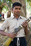 "ABUJMARH, DANTEWARA DISTRICT, CHHATTISGARH, INDIA, MARCH 10, 2008 :  Abujmarh is part of Dantewara District, north of the Indravati river, and it is Naxalite territory, government civil servant or police rarely venture that way . Maoist insurgents , or Naxalites,  have been waging a war against the Indian government for the past 25 years and has been gaining momentum in in the past few years. They fight for the rural poor like the Gond tribals who are afraid to loose their land to mining and development. They are present in some 150 of the 600 districts of India, and Dantewara is one of Chhattisgarh rural Maoist stronghold where they control most of the countryside. The overwhelmed police force is hiring more personel to deal with the Naxalite threat and the Government has armed civil defence anti-naxalite milicias to take on the rebels , emptying villages to cut local support to the rebels. The movement called ""Salwa Judum"" (campaign for peace)  started in june 2005 when some villages took a stand against the Maoists, but it is now dragging the whole district into the bloody civil war, at the expense of the  local tribal villagers caught in the middle and forced to leave their ancestral homes for the security of refugee camps. The conflict has claimed over 900 lives in 2006 and again in 2007, and some 50 to 60,000 people live in makeshift camps, protected by the Salwa Judum and the police force. But for the tribals who do not want to leave their home and villages, there are no government services available, meaning no health care or education for the children. They live in complete isolation from the rest of India. (Photo by Jean-Marc Giboux/ GettyImages)"