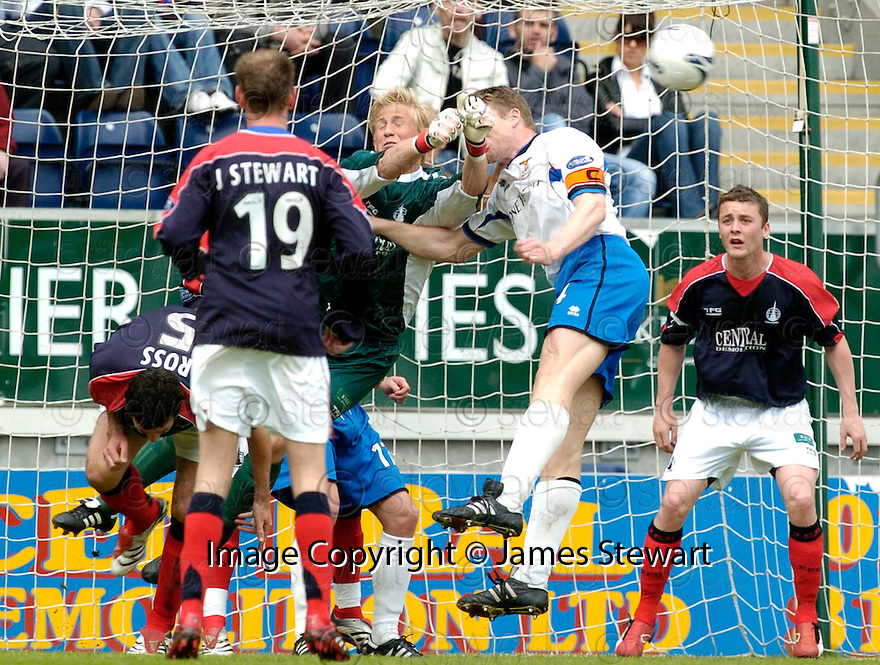 05/05/2007       Copyright Pic: James Stewart.File Name : sct_jspa01_falkirk_v_inverness.KASPER SCHMEICHEL PUNCHES CLEAR FROM DARREN DODS...James Stewart Photo Agency 19 Carronlea Drive, Falkirk. FK2 8DN      Vat Reg No. 607 6932 25.Office     : +44 (0)1324 570906     .Mobile   : +44 (0)7721 416997.Fax         : +44 (0)1324 570906.E-mail  :  jim@jspa.co.uk.If you require further information then contact Jim Stewart on any of the numbers above.........