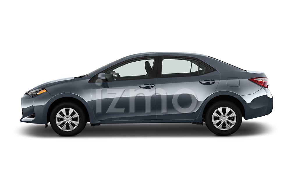 Car driver side profile view of a 2017 Toyota Corolla L 4 Door Sedan