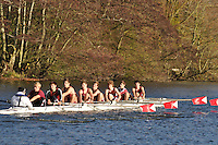 00 .SGC - Tviet .J18A.8+ .St Georges Coll. Wallingford Head of the River. Sunday 27 November 2011. 4250 metres upstream on the Thames from Moulsford railway bridge to Oxford Universitiy's Fleming Boathouse in Wallingford. Event run by Wallingford Rowing Club..