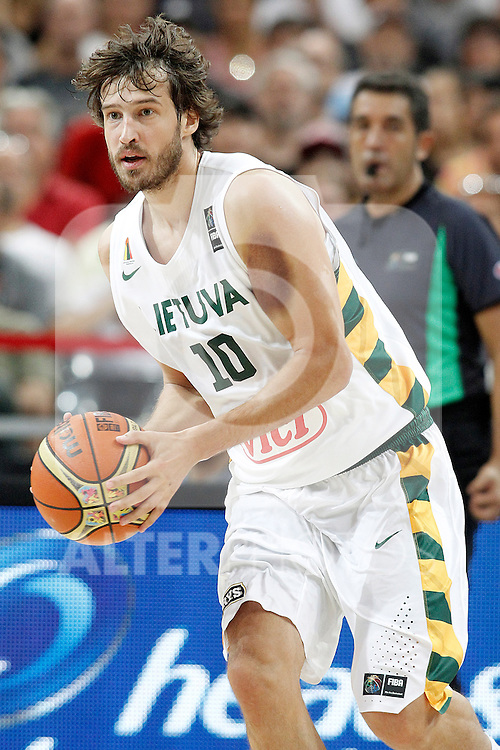 Lithuania's Simas Jasaitis during 2014 FIBA Basketball World Cup Quarter-Finals match.September 9,2014.(ALTERPHOTOS/Acero)