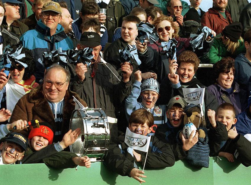 Photo: Ken Brown.8.11.97 Heineken Cup Quarter-Final  Bath v Cardiff.Cardiff fans