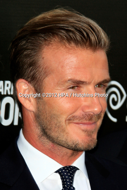 LOS ANGELES - OCT 30:  David Beckham arrives at the Time Warner Sports Launch of TWC Sportsnet at TWC Sports Studios on October 30, 2012 in El Segundo, CA