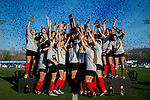 KANSAS CITY, MO - DECEMBER 02: The University of Central Missouri are the new Division II Women's Soccer National Champions after defeating Carson-Newman University held at the Swope Soccer Village on December 2, 2017 in Kansas City, Missouri. (Photo by Doug Stroud/NCAA Photos/NCAA Photos via Getty Images)