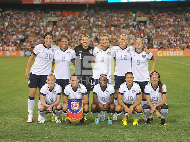 USWNT starting eleven. The USWNT defeated Mexico 7-0 during an international friendly, at RFK Stadium, Tuesday September 3, 2013.