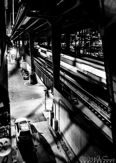 Train tracks at Circular Quay station in Sydney, NSW, Australia
