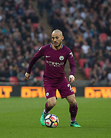 Manchester City David Silva during the Premier League match between Tottenham Hotspur and Manchester City at Wembley Stadium, London, England on 14 April 2018. Photo by Andrew Aleksiejczuk / PRiME Media Images.