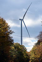 Colebrook South Wind Project. BNE Energy, Owner and The Ryan Company, Contractor. As seen driving along RT 44. 16 October 2015