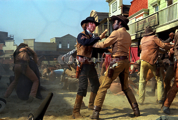 GENE WILDER &amp; CLEAVON LITTLE <br /> in Blazing Saddles<br /> *Filmstill - Editorial Use Only*<br /> CAP/PLF<br /> Supplied by Capital Pictures / MediaPunch