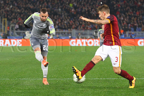17.02.2016. Stadio Olimpico, Rome, Italy. UEFA Champions League, Round of 16 - first leg, AS Roma versus Real Madrid.  JESE RODRIGUEZ RUIZ scores to make the game 0-2