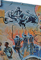 Berkeley CA,Berkeley Mural 4, Telegraph & Haste.  Photo '78.
