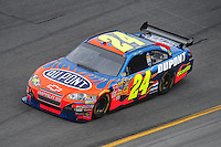 Feb 13, 2008; Daytona Beach, FL, USA; Nascar Sprint Cup Series driver Jeff Gordon (24) during practice for the Daytona 500 at Daytona International Speedway. Mandatory Credit: Mark J. Rebilas-US PRESSWIRE