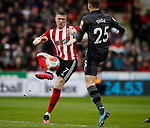 John Lundstram of Sheffield Utd and Ondrej Duda of Norwich City during the Premier League match at Bramall Lane, Sheffield. Picture date: 7th March 2020. Picture credit should read: Simon Bellis/Sportimage