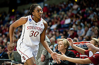 SPOKANE, WA - MARCH 26, 2011: Nnemkadi Ogwumike, Stanford Women's Basketball vs University of North Carolina, NCAA West Regionals on March 26, 2011.