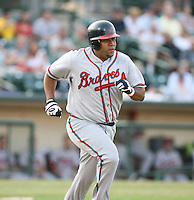 Carlos Mendez of the Richmond Braves vs. the Rochester Red Wingss:  May 31st, 2007 at Frontier Field in Rochester, NY. Photo By Mike Janes/Four Seam Images