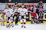 S&ouml;dert&auml;lje 2014-01-06 Ishockey Hockeyallsvenskan S&ouml;dert&auml;lje SK - Malm&ouml; Redhawks :  <br />   Malm&ouml; Redhawks Teemu Kes&auml; och Malm&ouml; Redhawks Sebastian Meijer deppar efter S&ouml;dert&auml;ljes Philip DeSimone gjort 1-1<br /> (Foto: Kenta J&ouml;nsson) Nyckelord:  depp besviken besvikelse sorg ledsen deppig nedst&auml;md uppgiven sad disappointment disappointed dejected