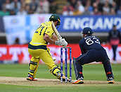 June 10th 2017, Edgbaston, Birmingham, England;  ICC Champions Trophy Cricket, England versus Australia; Moises Henriques of Australia plays the spin of Adil Rashid of England
