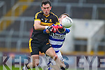 Ambrose O'Donovan Dr. Crokes in action against Mark Collins Castlehaven in the Munster Senior Club Final at Pairc Ui Caoimh on Sunday