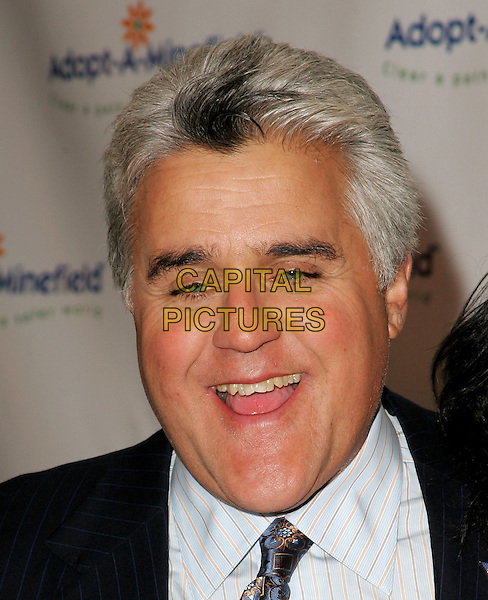 JAY LENO.The 4th Annual Benefit Gala for Adopt-A-Minefield held at The Century Plaza Hotel in Century City, California.October 15th, 2004.headshot, portrait.www.capitalpictures.com.sales@capitalpictures.com.©Debbie Van Story/Capital Pictures