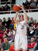 STANFORD, CA - February 24, 2011: Sara James of the Stanford Cardinal women's basketball team during the Stanford 73-37 win over Oregon State at Maples Pavilion.