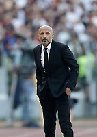 Calcio, Serie A: Roma, stadio Olimpico, 28 maggio 2017.<br /> AS Roma's coach Luciano Spalletti looks on during the Italian Serie A football match between AS Roma and Genoa at Rome's Olympic stadium, May 28, 2017.<br /> Francesco Totti's final match with Roma after a 25-season career with his hometown club.<br /> UPDATE IMAGES PRESS/Isabella Bonotto
