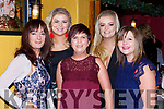 siobhain O'Riordan, Adrianna Creedon, Marie Walsh, Laura Creedon and Christina Lucey enjoying Womens Christmas  in the Porterhouse on Saturday night