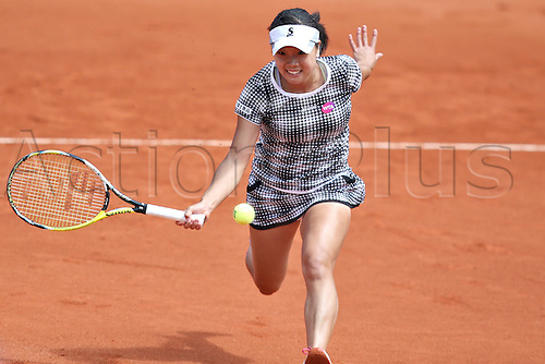 21.05.2015. Nuremberg, Germany. WTA Nuremberg Open tournament.  Kurumi Nara of Japan in action during the quarter finals match against Vinci of Italy in Nuremberg, Germany, 21 May 2015.