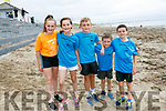 At the Ballyheigue Summer Festival King of the Beach Run on Monday were Daisy Nowak and Lilly Nowak, Matthew O'Sullivan, Kevin Horgan and Aarom Horgan