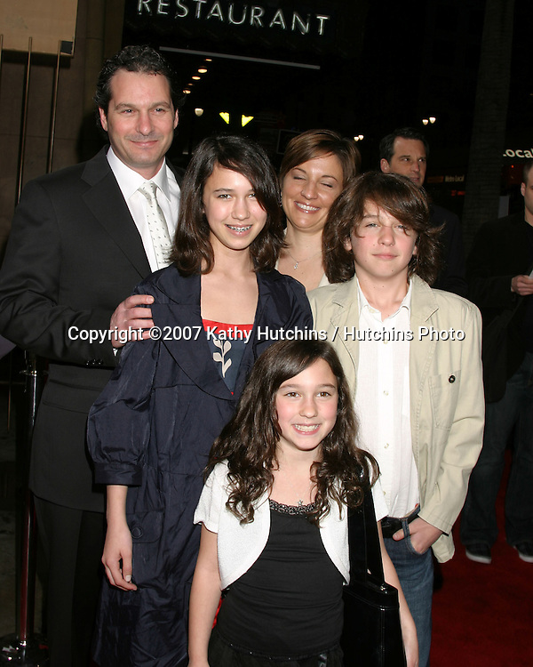 "Scott Frank & Family.""The Lookout"" LA Premiere.Egyptian Theater.Los Angeles, CA.March 20, 2007.©2007 Kathy Hutchins / Hutchins Photo..."