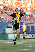 Eric Brunner (23) of the Columbus Crew. The New York Red Bulls defeated the Columbus Crew 1-0 during a Major League Soccer match at Giants Stadium in East Rutherford, NJ, on August 30, 2009.