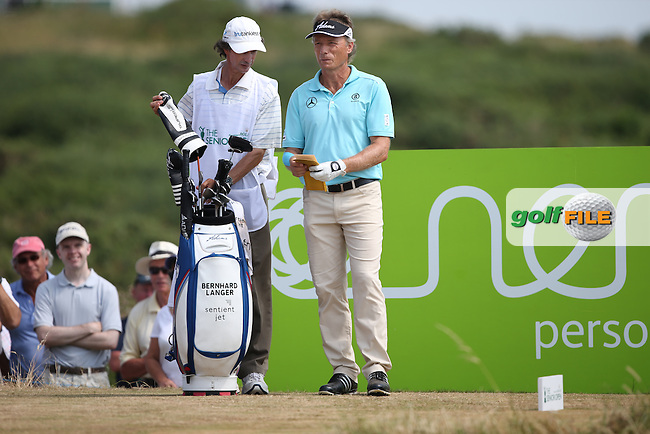 Bernhard Langer (GER) during Round Three of the 2014 Senior Open Championship presented by Rolex from Royal Porthcawl Golf Club, Porthcawl, Wales. Picture:  David Lloyd / www.golffile.ie
