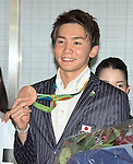 Naito Ehara, August 17, 2016, Tokyo, Japan : Rio 2016 Summer Olympic Games men's 4x200m Freestyle Relay bronze medallist Naito Ehara arrives at Tokyo International Airport in Tokyo, Japan, on August 17, 2016. (Photo by AFLO)