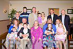 GOLDEN ANNIVERSARY: Miche?al and Finola Kerins, The Kerries enjoying a great time celebrating their Golden Wedding anniversary with family and friends at the Kerins O'Rahillys clubhouse, Tralee on Friday seated l-r: Michelle, Roisin, Miche?al, Michael and Fionla Kerins, Tara O'Doherty, Eugenie, Anne and Kate Kerins. Back l-r: Sean Kerins, Emmet and John O'Doherty, Odhran, Gena, Michael and Rory Kerins.