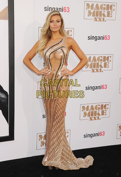 HOLLYWOOD, CA - JUNE 25: Actress Samantha Hoopes arrives at the Los Angeles World Premiere of Warner Bros. Pictures' 'Magic Mike XXL' at TCL Chinese Theatre IMAX on June 25, 2015 in Hollywood, California.<br /> CAP/ROT/TM<br /> &copy;TM/ROT/Capital Pictures