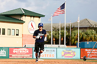 18 September 2012: France Maxime Lefevre runs the bases during Team France practice, at the 2012 World Baseball Classic Qualifier round, in Jupiter, Florida, USA.