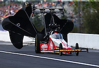 Mar 19, 2016; Gainesville, FL, USA; NHRA top fuel driver Doug Kalitta during qualifying for the Gatornationals at Auto Plus Raceway at Gainesville. Mandatory Credit: Mark J. Rebilas-USA TODAY Sports