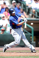 Buffalo Bisons outfielder Nick Evans #33 during a game against the Rochester Red Wings at Frontier Field on August 2, 2011 in Rochester, New York.  Rochester defeated Buffalo 7-3.  (Mike Janes/Four Seam Images)