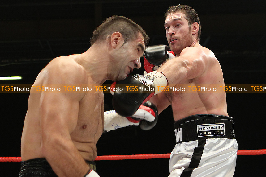Tyson Fury vs Neven Pajkic in a boxing contest at EventCity, Trafford Park, Manchester, promoted by Hennessy Sports - 12-11-11 MANDATORY CREDIT: Chris Royle/TGSPHOTO - Self billing applies where appropriate - 0845 094 6026 - contact@tgsphoto.co.uk - NO UNPAID USE..