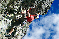 Bad Hofgastein, Salzburgerland, Austria, September 2009. Climbing training at a wall in Dorfgastein.  Photo by Frits Meyst