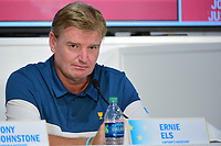Ernie Els (RSA) speaks during round 1 player selection for the 2017 President's Cup, Liberty National Golf Club, Jersey City, New Jersey, USA. 9/27/2017.<br /> Picture: Golffile   Ken Murray<br /> <br /> <br /> All photo usage must carry mandatory copyright credit (&copy; Golffile   Ken Murray)