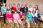 Jane Gleeson, Firies who celebrated her retirement from the Kerry General Hospital with her friends in the Royal Hotel Killarney on Friday night front row Margaret flavin, Jane Gleeson, Joan o'Donnell, Maura Shanahan, Nora Brosnan. Back row: margaret Nugent, Mary roche, Eileen Walsh, katherine McKenna, Mary Jo o'Connor, Bernie Daly, Beverly, Casapao, Tina Canty and Iona Arellano