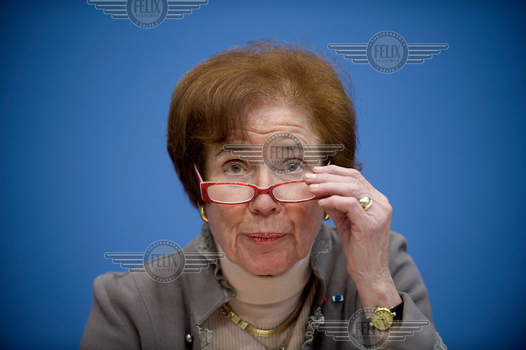 Beate Klarsfeld, candidate for the German presidency, in Berlin. Klarsfeld is the candidate of German left-wing political party Die Linke and is known for her efforts to hunt down World War II (WW2) nazis.