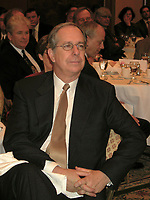 April 16 2003, Montreal, Quebec, Canada<br /> <br /> Daniel Johnson, former Quebec Premier and former leader of the Quebec Liberal Party, in the early 90's<br /> attend a conference by Pierre Genest, President and General Director, Fond de Solidarite FTQ, at the MBA association april 16, 2003, in Montreal, Canada.<br /> <br /> NO MODEL RELEASE - Editorial related to this event only<br /> <br /> Mandatory Credit: Photo by Pierre Roussel- Images Distribution. (©) Copyright 2003 by Pierre Roussel <br /> <br /> NOTE : <br />  Nikon D-1 jpeg opened with Qimage icc profile, saved in Adobe 1998 RGB<br /> .Uncompressed  Original  size  file availble on request.