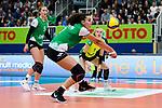 05.10.2019, Halle Berg Fidel, Muenster<br />Volleyball, Bundesliga Frauen, Normalrunde, USC MŸnster / Muenster vs. Allianz MTV Stuttgart<br /><br />Annahme Ivana Vanjak (#7 Muenster)<br /><br />  Foto © nordphoto / Kurth