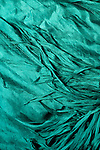 Blue Silk 02 - Turquoise blue layered silk shawl.