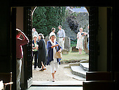 Audience enjoying a break during performances by Seckou Keita and Carmen Souza, St Mary's Church, Petworth Festival, West Sussex.