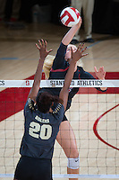 STANFORD, CA - September 9, 2016: Kathryn Plummer at Maples Pavilion. The Purdue Boilermakers defeated the Stanford Cardinal 3 - 2.