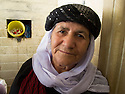 Iraq 2011 <br /> Portrait of Di Asmar, a Yezidi pir, in Lalesh  <br /> Irak 2011 <br /> Portrait de Di Asmar, femme yezidi pir
