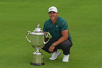 Brooks Koepka (USA) and The Wannamaker Trophy for winning the 100th PGA Championship at Bellerive Country Club, St. Louis, Missouri. 8/12/2018.<br /> Picture: Golffile | Ken Murray<br /> <br /> All photo usage must carry mandatory copyright credit (&copy; Golffile | Ken Murray)